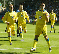 Photo: Aidan Ellis.<br /> Sheffield Wednesday v Leeds United. Coca Cola Championship. 27/08/2006.<br /> Leeds David Healy celebrates scoring the first from the penalty spot