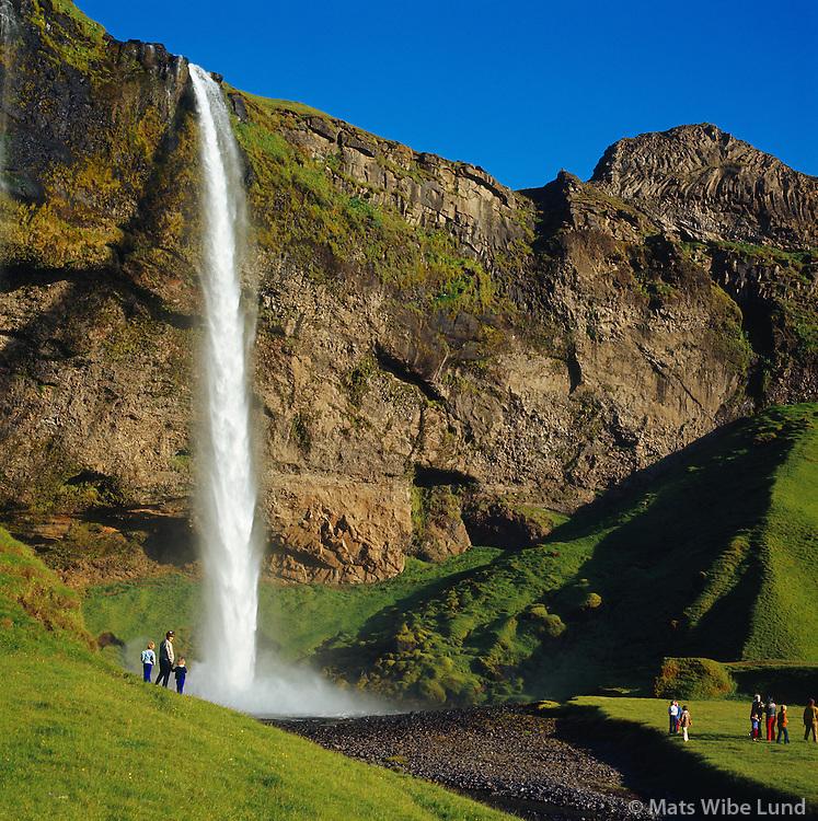 Seljalandsfoss séð til austurs, Rangárþing eystra áður Vestur-Eyjafjallahreppur /  Seljalandsfoss viewing east, Rangarthing eystra former Vestur-Eyjafjallahreppur.