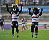 Bradford Bulls mascots before the First Utility Super League match at Odsal Stadium, Bradford<br /> Picture by Richard Land/Focus Images Ltd +44 7713 507003<br /> 01/06/2014