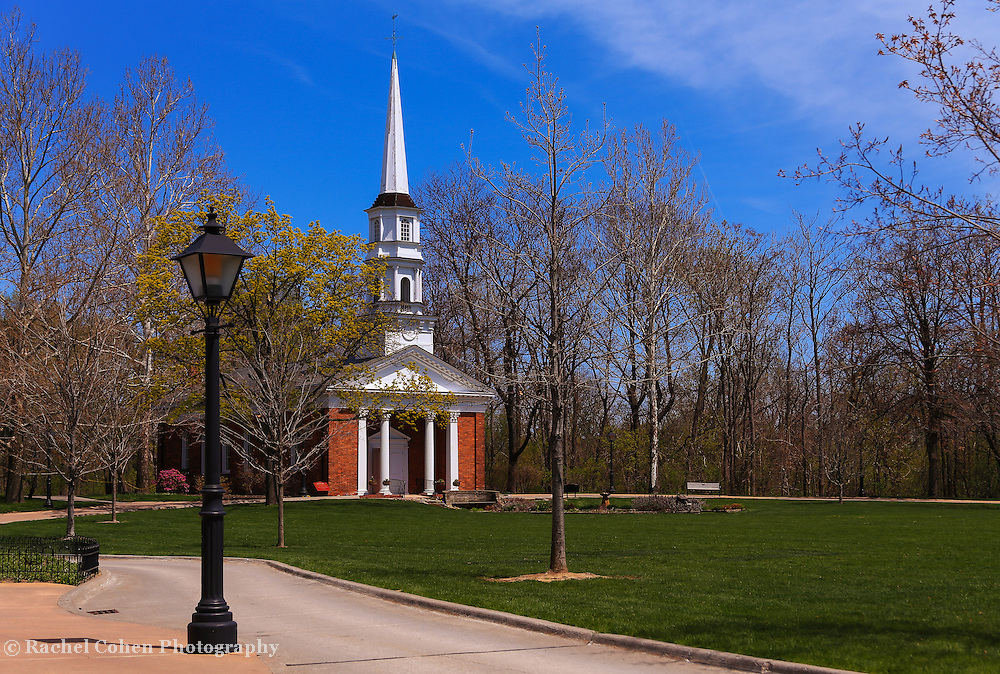 &quot;Church at Greenfield Village&quot;<br /> <br /> Beautiful church on the village green at Greenfield Village in springtime!