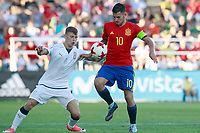 Spain's Dani Ceballos (r) and Italy's Barella during international sub 21 friendly match. September 1,2017.(ALTERPHOTOS/Acero)