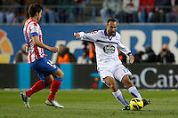 09.12.2012 SPAIN -  La Liga 12/13 Matchday 15th  match played between Atletico de Madrid vs R.C. Deportivo de la Courna (6-0) at Vicente Calderon stadium. The picture show Ayoze?Diaz (Player of R.C. Deportivo)