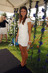 LADY NATASHA RUFUS-ISAACS at the Cartier International polo at Guards Polo Club, Windsor Great Park on 29th July 2007.<br />