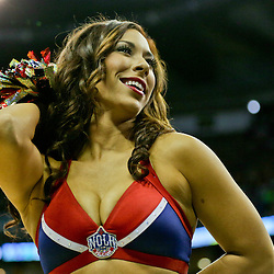 Jan 6, 2016; New Orleans, LA, USA; New Orleans Pelicans dance team performs during the second quarter of a game against the Dallas Mavericks at the Smoothie King Center. Mandatory Credit: Derick E. Hingle-USA TODAY Sports