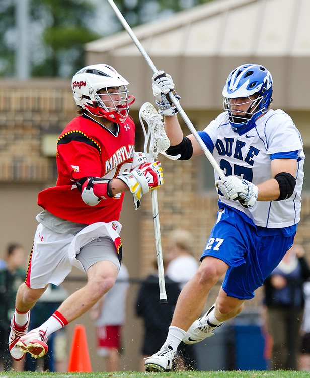 March 5 2011:Duke defender Chris Hipps (27) guards Marylands Quinn Haley #49