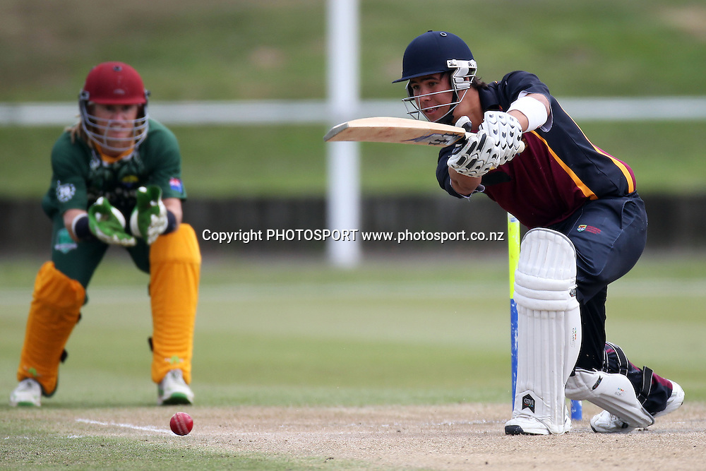 Elliot Timoti batting for ND, Twenty 20 cricket, Northern Districts Maori v Cook Islands, Seddon Park, Hamilton. 4 April 2011. Photo: William Booth/photosport.co.nz