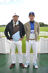Left to right, RASHID AL HABTOOR and MOHAMMED AL HABTOOR at Al Habtoor Royal Windsor Cup Final 2012 at Guards Polo Club, Berkshire on 24th June 2012.