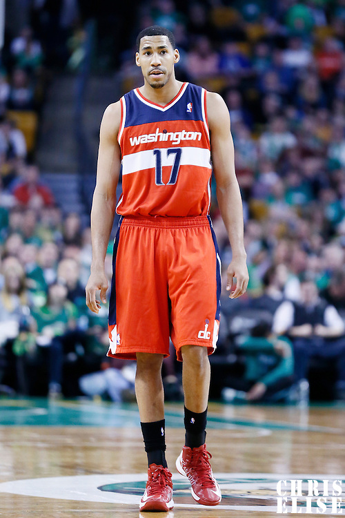 07 April 2013: Washington Wizards shooting guard Garrett Temple (17) is seen during the Boston Celtics 107-96 victory over the Washington Wizards at the TD Garden, Boston, Massachusetts, USA.