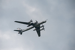 May 27, 2017 - Tambov, Tambov region, Russia - 27 may in the city of Tambov (Russia) was held the traditional holiday Show. The audience saw the Russian planes TU - 95 MS, IL - 78, an - 12, TU - 134A, TU - 134 UBL, as well as the performance of the aviation group aerobatic Russian air force ''Falcons of Russia'' on SU – 30 (Credit Image: © Aleksei Sukhorukov via ZUMA Wire)