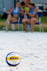 Mikasa, new official ball for Slovenian BeachTour at Beachmaster 2010 tournament for Slovenian BeachTour on July 15, 2010, in Ptuj, Slovenia. (Photo by Matic Klansek Velej / Sportida)