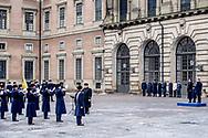 12-3-2018 - STOCKHOLM - The Crown Princess name day<br /> Crownprincess Victoria with prince Daniel and Princess Estelle during Name<br /> day 2018 at The Inner Courtyard, the Royal Palace of Stockholm . Copyright Robin Utrecht<br /> <br /> 12-3-2018 - STOCKHOLM - De naamdag van de Kroonprinses<br /> Victoria met Prins Daniel en Prinses Estelle tijdens Name<br /> dag 2018 op The Inner Courtyard, het Koninklijk Paleis van Stockholm. Copyright Robin Utrecht