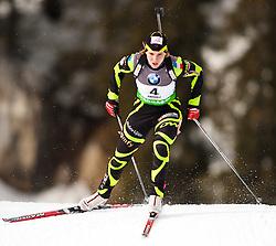"19.01.2012, Südtirol Arena, Antholz, ITA, E.ON IBU Weltcup, 6. Biathlon, Antholz, Sprint Damen, im Bild Anais Bescond (FRA) // Anais Bescond (FRA) during Sprint Women E.ON IBU World Cup 6th, ""South Tyrol Arena"", Antholz-Anterselva, Italy on 2012/01/19, EXPA Pictures © 2012, PhotoCredit: EXPA/ Juergen Feichter"