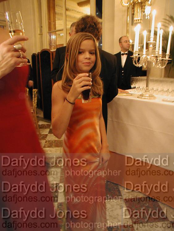 Dina de Laurentiis, The  Thirteenth Annual Crillon Haute Couture Ball. Paris,  29 November 2003. © Copyright Photograph by Dafydd Jones 66 Stockwell Park Rd. London SW9 0DA Tel 020 7733 0108 www.dafjones.com