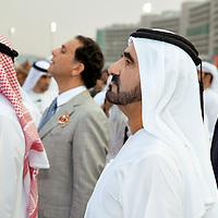 Dubai World Cup 2010: Der Herrscher von Dubai verfolgt ein Pferderennen