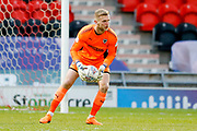 AFC Wimbledon goalkeeper George Long (1), on loan from Sheffield United,  during the EFL Sky Bet League 1 match between Doncaster Rovers and AFC Wimbledon at the Keepmoat Stadium, Doncaster, England on 1 May 2018. Picture by Simon Davies.