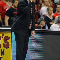 16 February 2013:   Maryland Terrapins head coach Mark Turgeon in action against the Duke Blue Devils at the Comcast Center in College Park, MD. where the Terrapins defeated the Blue Devils, 83-81.