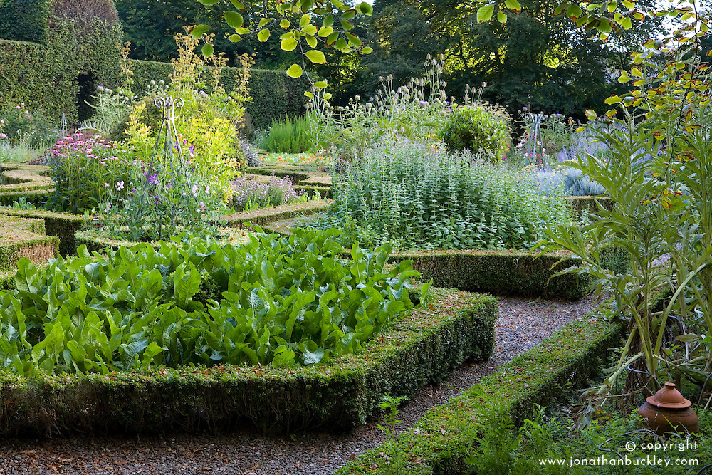 The herb garden at Ballymaloe Cookery school