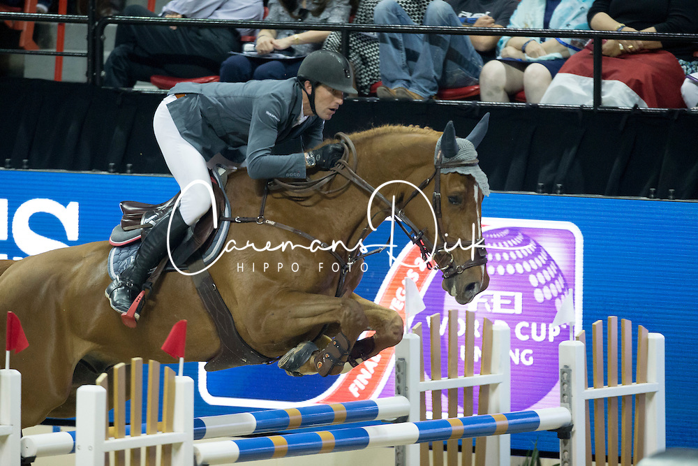 Staut Kevin, (FRA), Qurack de Falaise HDC <br />  Longines FEI World Cup&trade; Jumping Final Las Vegas 2015<br />  &copy; Hippo Foto - Dirk Caremans<br /> Final III round 2 - 19/04/15