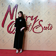 Izuka Hoyle Arrivers at Mary, Queen of Scots - European premiere ay Cineworld,  Leicester Square on 10 December 2018, London, UK.