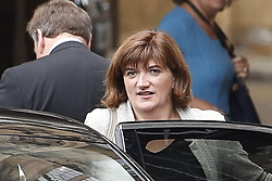 © Licensed to London News Pictures. 09/09/2019. London, UK. Culture Minister Nicky Morgan leaves Parliament. The government have announced that <br />