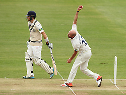 Durham's Chris Rushworth bowls - Photo mandatory by-line: Robbie Stephenson/JMP - Mobile: 07966 386802 - 03/05/2015 - SPORT - Football - London - Lords  - Middlesex CCC v Durham CCC - County Championship Division One