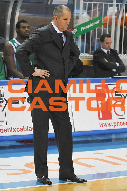DESCRIZIONE : Rieti Lega A1 2008-09 Solsonica Rieti Air Avellino<br /> GIOCATORE : Zare Markovski<br /> SQUADRA : Air Avellino<br /> EVENTO : Campionato Lega A1 2008-2009 <br /> GARA : Solsonica Rieti Air Avellino<br /> DATA : 01/02/2009<br /> CATEGORIA : Delusione<br /> SPORT : Pallacanestro <br /> AUTORE : Agenzia Ciamillo-Castoria/E.Grillotti