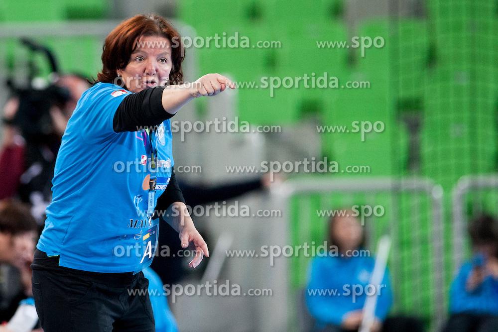 Marta Bon, head coach of RK Krim Mercator during handball match between RK Krim Mercator (SLO) and Rostov-Don (RUS) in 6th Round of Women's EHF Champions League 2015/16, on November 20, 2015 in Arena Stozice, Ljubljana, Slovenia. Photo by Urban Urbanc / Sportida