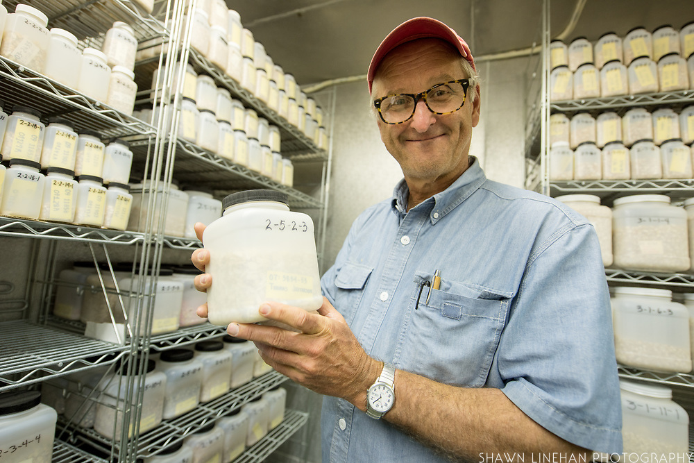 Bill Tracy created a seed bank for his corn research at the University of Wisconsin Madision.