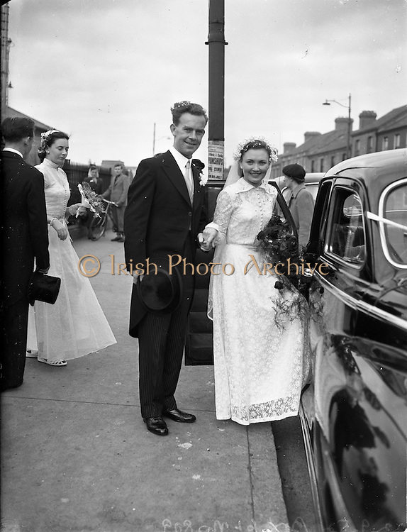 22/9/1952<br /> 9/22/1952<br /> 22 September 1952<br /> <br /> Wedding of Mr. Christopher Dooleyand Miss. Josephine Wotton at St Michael's Inchicore and Dublin Airport
