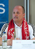 "Boguslaw Galazka - director of Special Olympics Poland while press conference before  demonstration match of the Special Olympics as part of the Respect Inclusion ""Football With No Limits"" before the UEFA EURO 2012 Quarterfinal football match between Portugal and Czech Republic at National Stadium in Warsaw on June 21, 2012...Poland, Warsaw, June 21, 2012..Picture also available in RAW (NEF) or TIFF format on special request...For editorial use only. Any commercial or promotional use requires permission...Photo by © Adam Nurkiewicz / Mediasport"
