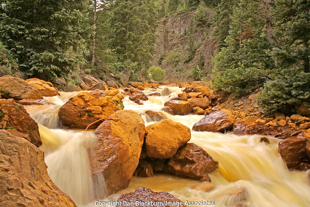 Red Mountain Creek Flowing Through San Juan Mountains Colorado