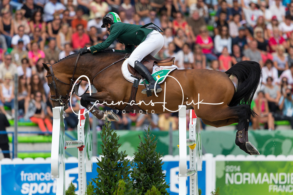 Darragh Kenny, (IRL), Imothep - World Champions, - Second Round Team Competition - Alltech FEI World Equestrian Games&trade; 2014 - Normandy, France.<br /> &copy; Hippo Foto Team - Leanjo De Koster<br /> 25/06/14