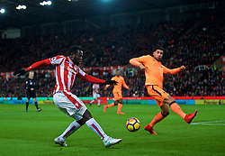 STOKE-ON-TRENT, ENGLAND - Wednesday, November 29, 2017: Stoke City's Mame Diram Diouf during the FA Premier League match between Stoke City and Liverpool at the Bet365 Stadium. (Pic by David Rawcliffe/Propaganda)
