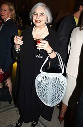 ELENA BONHAM-CARTER at a party to celebrate the publication of  'Put On Your Pearl Girls!' by Lulu Guinness held at the V&A museum, London on 5th May 2005.<br />