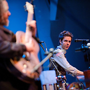February 7, 2012 - New York, NY :.Sxip Shirey, left, and Jonny Rodgers perform 'A Trip to the Moon' during Kaufman Center's presenation of the Ecstatic Music Festival 2012 at Merkin Concert Hall in Manhattan on Tuesday night. .CREDIT: Karsten Moran for The New York Times
