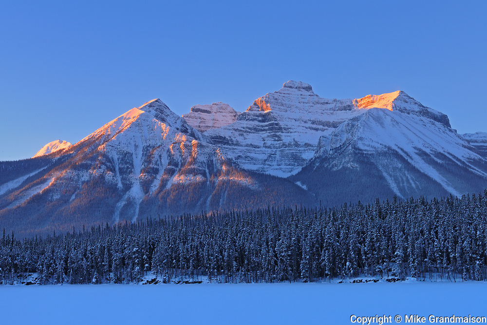 Peaks of the Bow Range, Banff National Park, Alberta, Canada