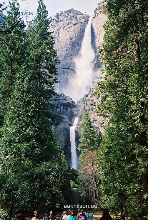 Upper & Lower Waterfall, Yosemite National Park, California, USA