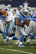 Detroit Lions running back Joique Bell (35) runs the ball during the NFL week 18 NFC Wild Card postseason football game against the Dallas Cowboys on Sunday, Jan. 4, 2015 in Arlington, Texas. The Cowboys won the game 24-20. ©Paul Anthony Spinelli