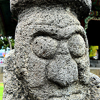 Dol Hareubang, Symbol of Jeju Island in Jeju City, South Korea	<br />