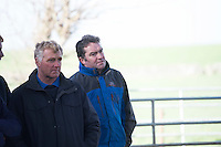 Farmers on Willie Donoghue's farm in Athenry Co. Galway for  a calf care event organised by Aurivo's Farm Profitability Programme, Teagasc and Animal Health Ireland. Photo:Andrew Downes, xposure