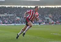 Southampton's Kevin Davies celebrates after scoring in the last minute to make the game all square