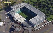 aerial photograph of Celtic Park Stadium Glasgow Scotland