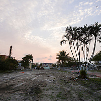 Land after demolition of a 1930s vintage appartment building at NE 5th Ave. and NE 26th Terrace.  Image from a series called Paradise Lost, the changing face of Miami.