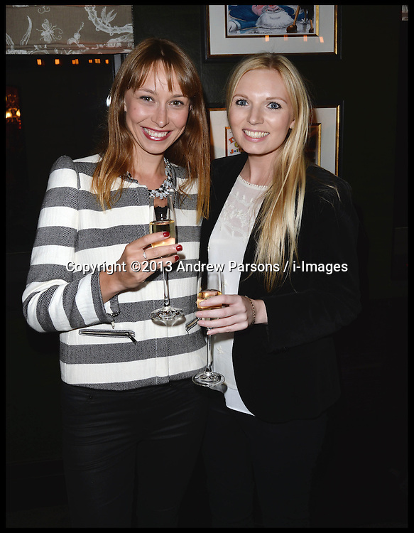 Katy Eustice (l) with Alexandra Beard-Gould attend The InterContinental Westminster  Political Party. London, United Kingdom. Wednesday, 11th September 2013. Picture by Andrew Parsons / i-Images