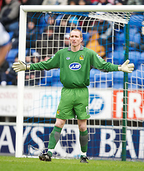 Wigan, England - Sunday, January 21, 2007: Wigan Athletic's gaolkeeper Chris Kirkland. during the Premier League match at the JJB Stadium. (Pic by David Rawcliffe/Propaganda)