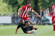 (L-R) Alberto De La Bella of Olympiakos Piraeus, Illiass Bel Hassani of AZ