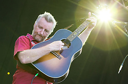 Image ©Licensed to i-Images Picture Agency. 18/07/2014. Henham Park , Suffolk, United Kingdom. BILLY BRAGG performs on the Obelisk (main) Stage during the Latitude Festival of music and arts . Picture by Joel Goodman / i-Images