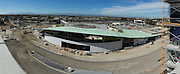A panoramic photo of the Milpitas BART Station photographed during a VTA media site tour in Milpitas, California, on September 2, 2016. (Stan Olszewski/SOSKIphoto)