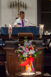 Rabbi Mike Harvey leads the LGBT Pride & Vigil Service in Remembrance of the Victims of the Orlando Massacre with the Hebrew Congregation of the St.Thomas.  17 June 2016.  © Aisha-Zakiya Boyd