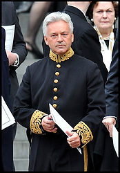 Alan Duncan MP attends Lady Thatcher's funeral at St Paul's Cathedral following her death last week, London, UK, Wednesday 17 April, 2013, Photo by: Andrew Parsons / i-Images